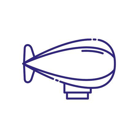 Zeppelin vehicle design, Transportation travel trip urban motor speed fast automotive and driving theme Vector illustration Stok Fotoğraf - 138736731