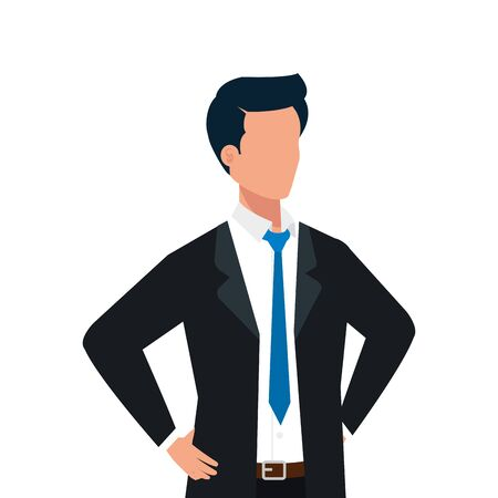 Avatar of a man design, Boy male person people human social media and portrait theme Vector illustration
