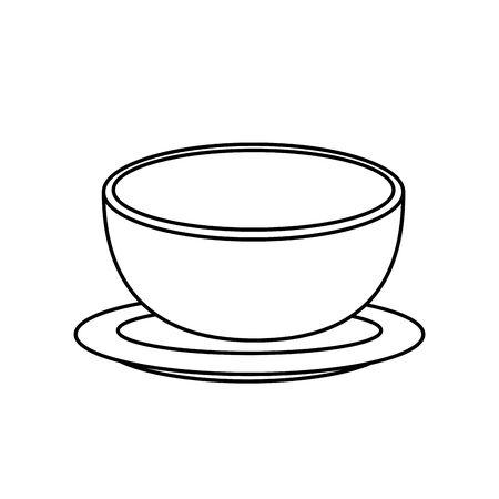 bowl dish kitchen isolated icon vector illustration design