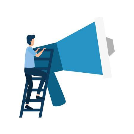 Businessman design, Man business management corporate job occupation and worker theme Vector illustration Иллюстрация
