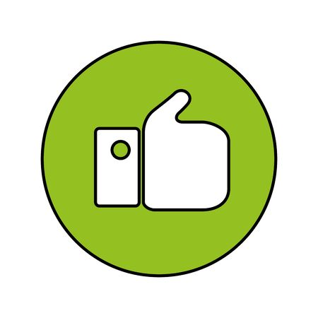 hand like social media reaction isolated icon vector illustration design