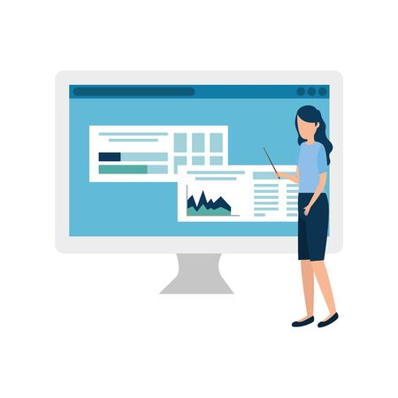 Businesswoman design, Woman business management corporate job occupation and worker theme Vector illustration