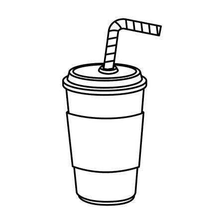 delicious soda drink fast food icon vector illustration design 일러스트