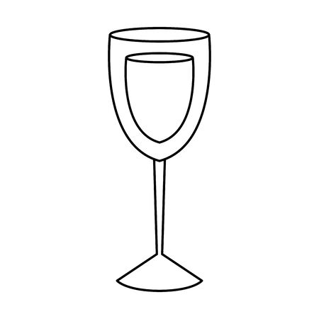 cup glass with wine isolated icon vector illustration design