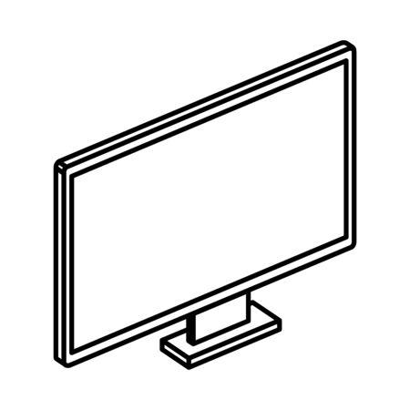 computer desktop device isolated icon vector illustration design Illustration