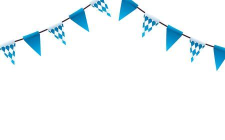 Diseño de banderín de banner, decoración de deportes de línea de evento de bandera y tema ganador Ilustración vectorial