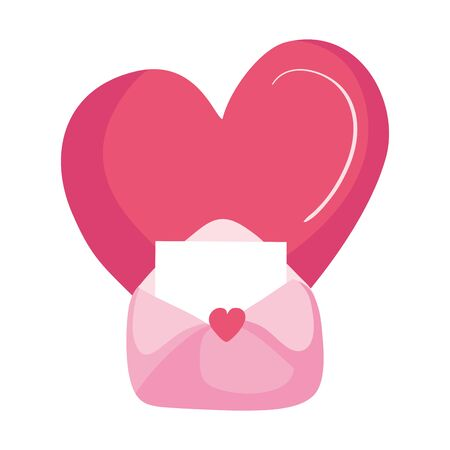 envelope mail with heart isolated icon vector illustration design