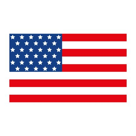 Usa flag design, United states america independence labor day nation us country and national theme Vector illustration 일러스트