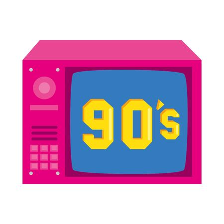 tv nineties retro style isolated icon vector illustration design