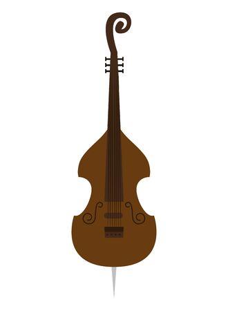 cello musical instrument icon vector illustration design Ilustrace
