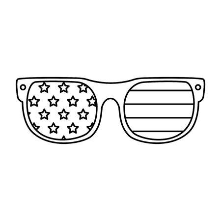 Usa glasses design, United states america independence labor day nation us country and national theme Vector illustration  イラスト・ベクター素材