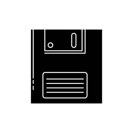 floppy nineties retro style isolated icon vector illustration design