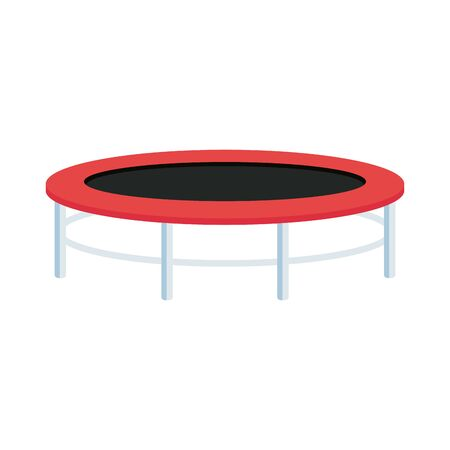 trampoline jump game isolated icon vector illustration design  イラスト・ベクター素材