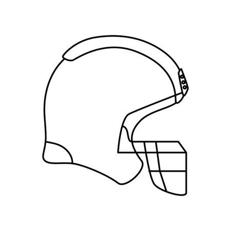 american football helmet line style icon vector illustration design Ilustración de vector