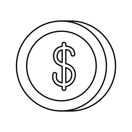 Coin design, Money finance commerce market payment invest and buy theme Vector illustration