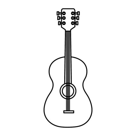 guitar instrument musical isolated icon vector illustration design Иллюстрация