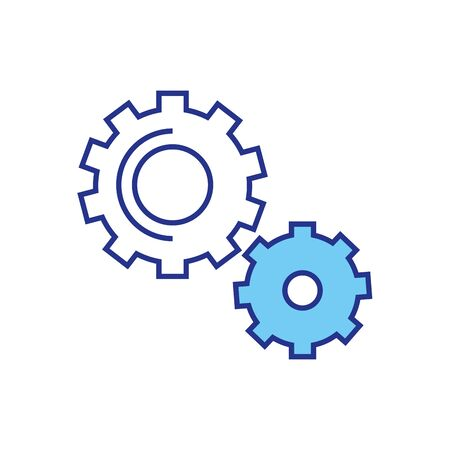 Gears design, construction work repair machine part technology industry and technical theme Vector illustration