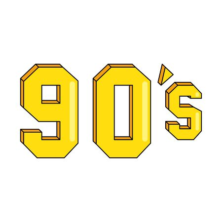 nineties sign retro style isolated icon vector illustration design