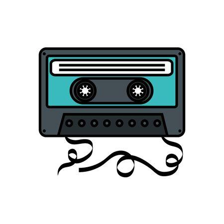 cassette music pop art style icon vector illustration design  イラスト・ベクター素材