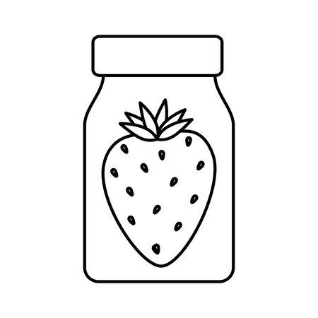 strawberry fruit in bottle isolated icon vector illustration design Ilustração