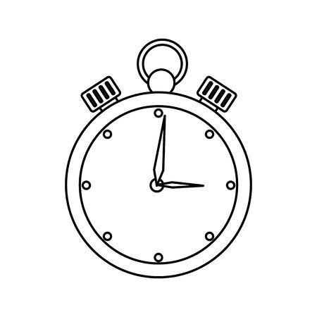 chronometer time equipment isolated icon vector illustration design