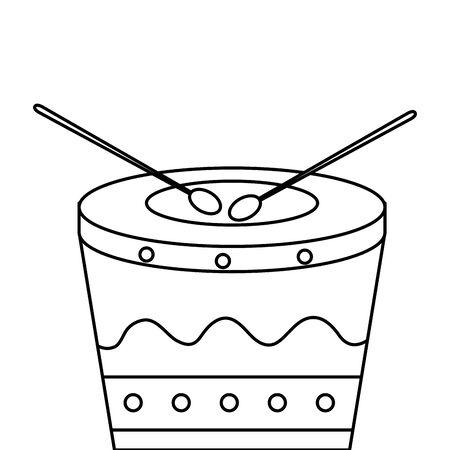 drum instrument musical isolated icon vector illustration design  イラスト・ベクター素材