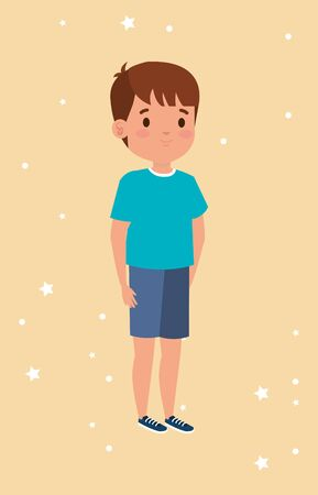 cute little boy avatar character vector illustration design 版權商用圖片 - 138892131