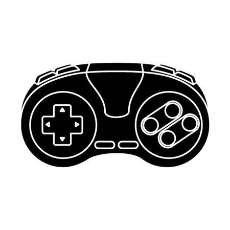 silhouette of control game of nineties style isolated icon vector illustration design  イラスト・ベクター素材