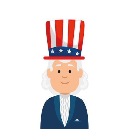 Usa president man with hat design, United states america independence nation us country and national theme Vector illustration