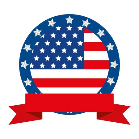 Usa seal stamp design, United states america independence labor day nation us country and national theme Vector illustration  イラスト・ベクター素材