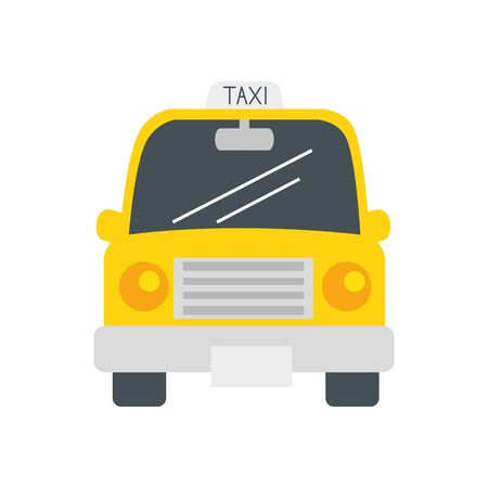Taxi car design, Transportation vehicle transport wheel speed traffic road and travel theme Vector illustration