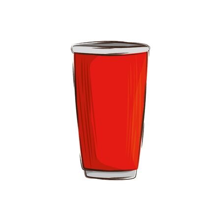 cup plastic beverage isolated icon vector illustration design
