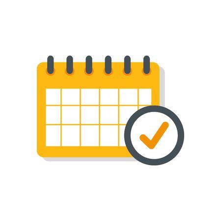 calendar reminder date with check symbol isolated icon vector illustration design Ilustração