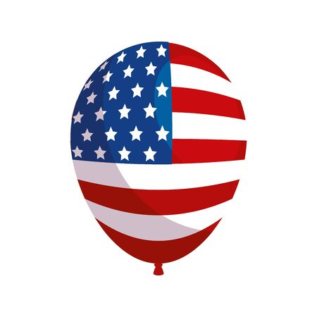 Usa balloon design, United states america independence labor day nation us country and national theme Vector illustration