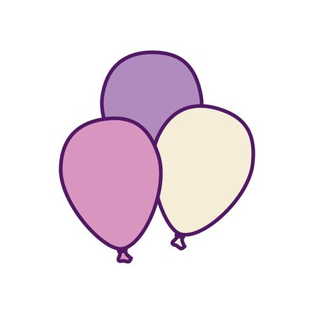 Balloons design, Party celebration entertainment holiday fun birthday decoration and joy theme Vector illustration  イラスト・ベクター素材