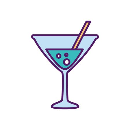 Cocktail design, Alcohol drink bar beverage liquid menu surprise restaurant and celebration theme Vector illustration