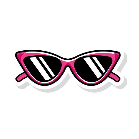 sunglasses pop art style icon vector illustration design Ilustracja