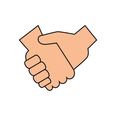 Hände schütteln Design von Menschen treffen Unternehmer Geschäftsleute Startup-Team Erfolg Teamwork Plan Idee und Person Thema Vektor-Illustration Vektorgrafik