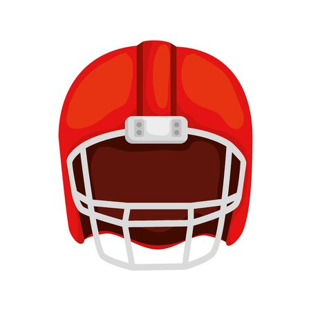 american football helmet isolated icon vector illustration design