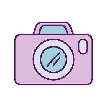 Camera device design, Gadget technology photography equipment digital photo focus and electronic theme Vector illustration Ilustração