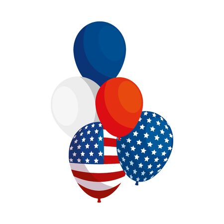 Usa balloons design, United states america independence labor day nation us country and national theme Vector illustration