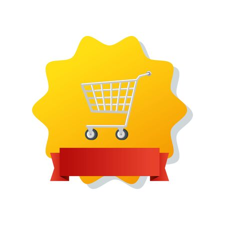 cart shopping in seal isolated icon vector illustration design