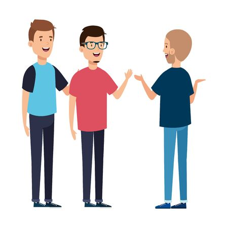 group of young men avatar character icon vector illustration design Archivio Fotografico - 139039699