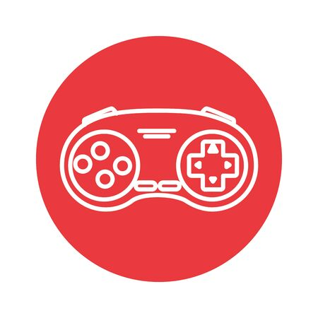 control game nineties style isolated icon vector illustration design