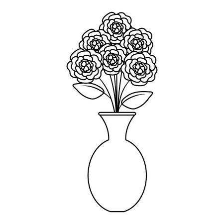 vase with roses icon vector illustration design Illusztráció