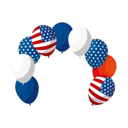 Usa balloons design, United states america independence nation us country and national theme Vector illustration