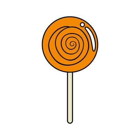 sweet lollipop yummy isolated icon vector illustration design