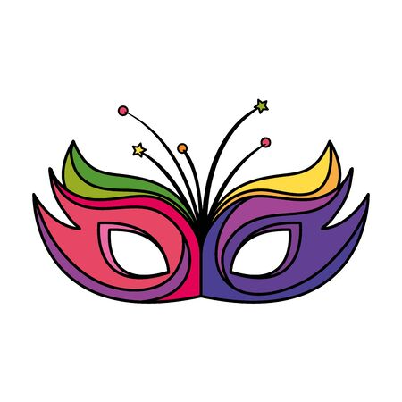 mask carnival traditional isolated icon vector illustration design