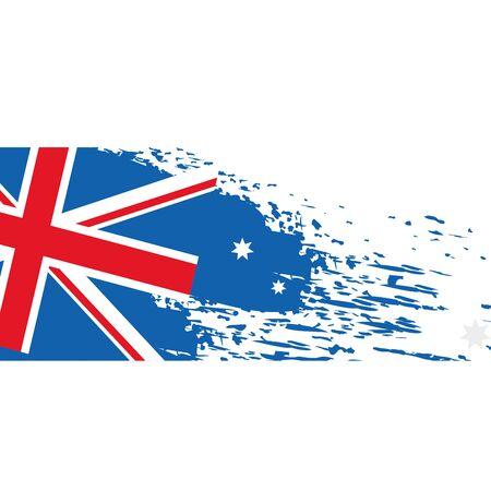 Flag australia emblem isolated icon vector illustration design 向量圖像
