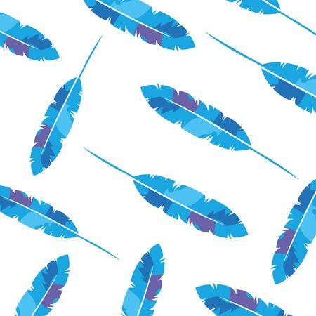 background of exotic feathers decoration vector illustration design 向量圖像